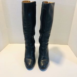 Sofft Black Leather Knee High Boots